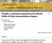 Wencel London Mathematical Society